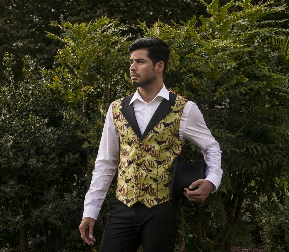 Bird waistcoat design by Dandylion Style