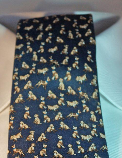 Blue Dogs Tie