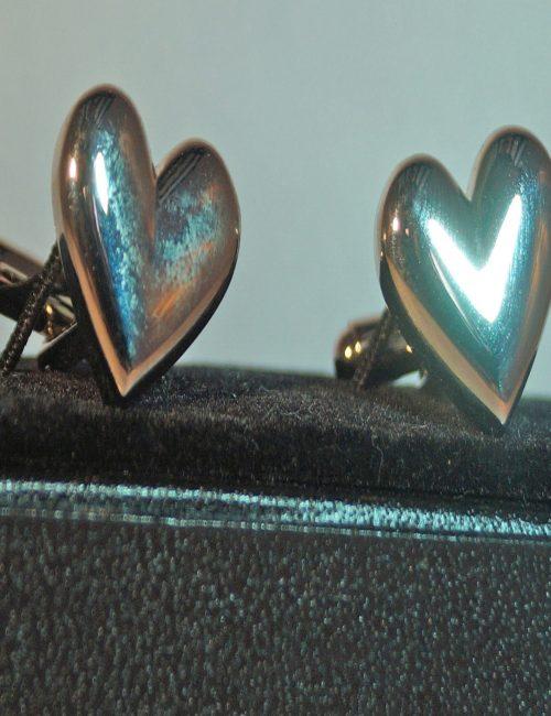 Silver Heart Cufflinks