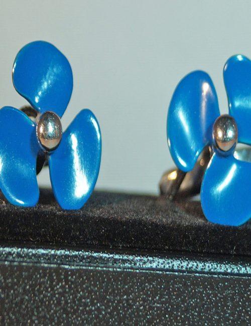 Blue Boat Propeller Cufflinks