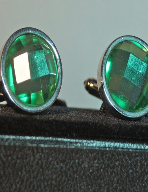 Round Green Cufflinks